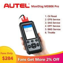 Autel MaxiDiag herramienta de diagnóstico para automóvil, lector de código OBDII Automotriz, Sistema completo OBD2, MD806Pro, MD806 Pro
