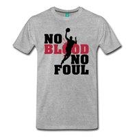 LEQEMAO Basketballer No Blood No Foul Men S T Shirt Short Sleeve Cheap Sale Cotton T