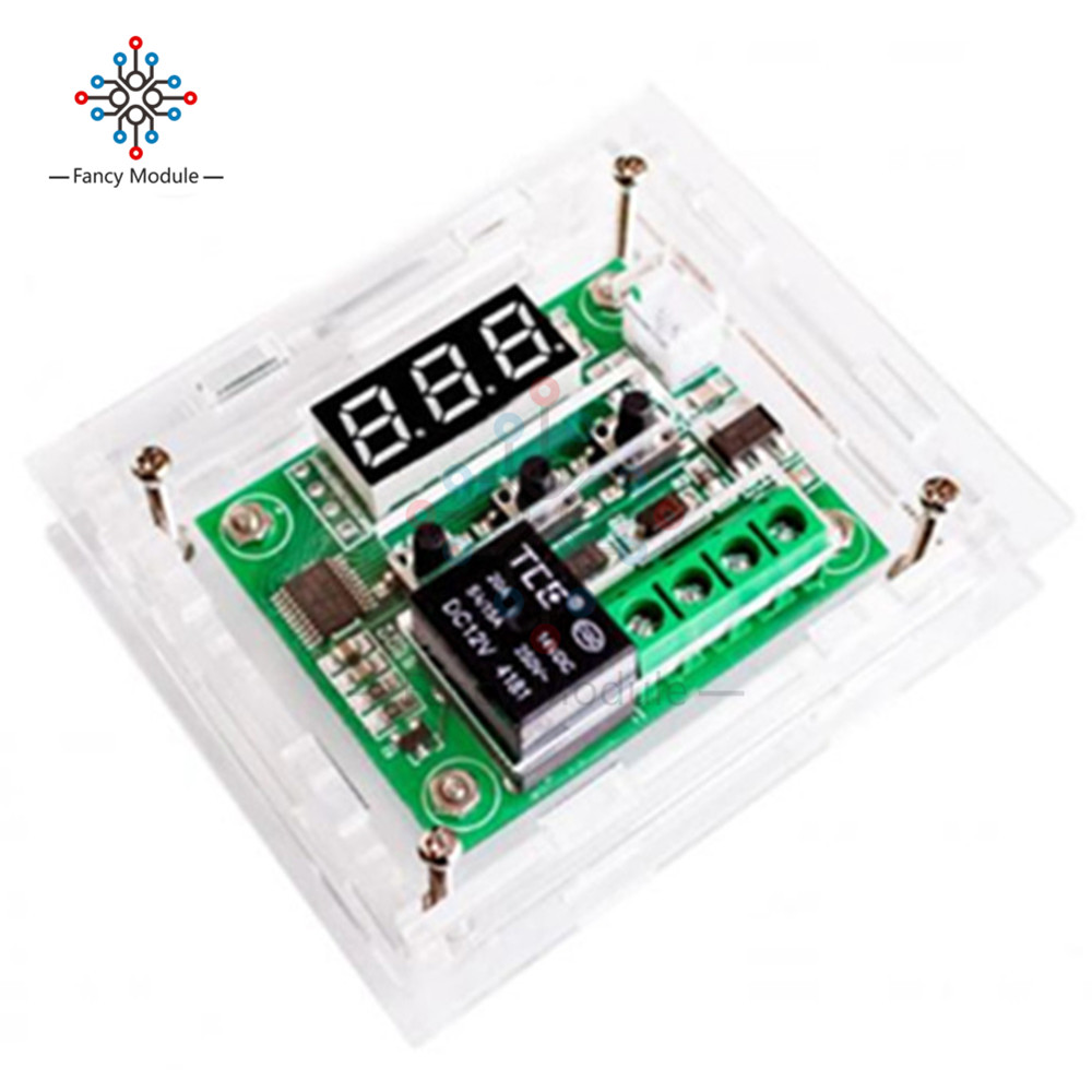 Stc 1000 Ac 110 220v 10a Lcd Digital Thermostat Temperature Control Stc1000 Microcomputer Controller W Sensor W1209 Dc 12v Blue Led Thermometer Thermo Switch Module Waterproof Ntc