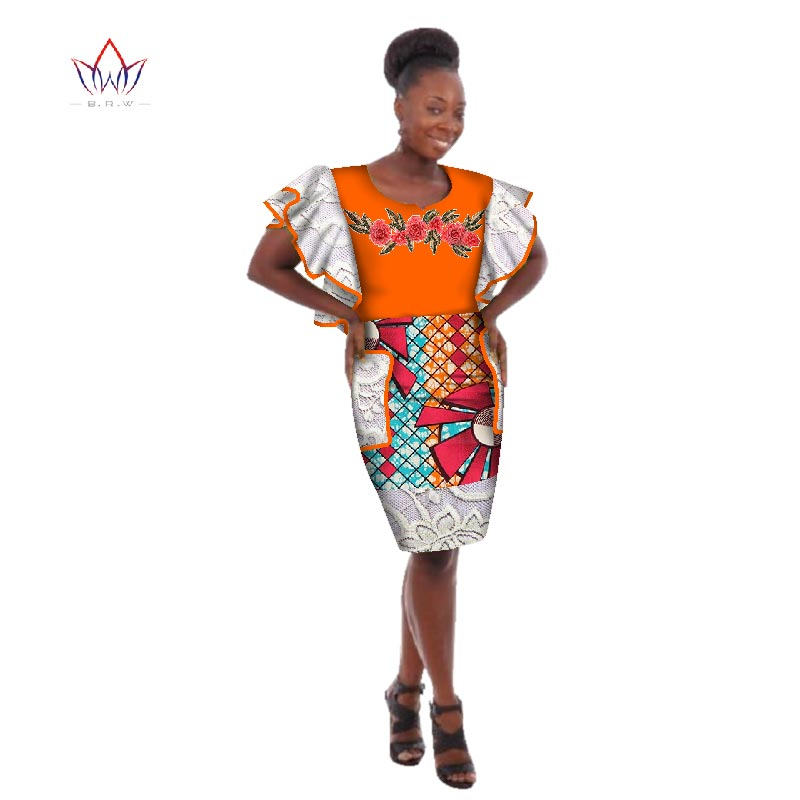 womens african plus size clothing o-neck african dashiki dress woman embroidery plus size bazin-lace cloth 6xl 5xl natural WY179