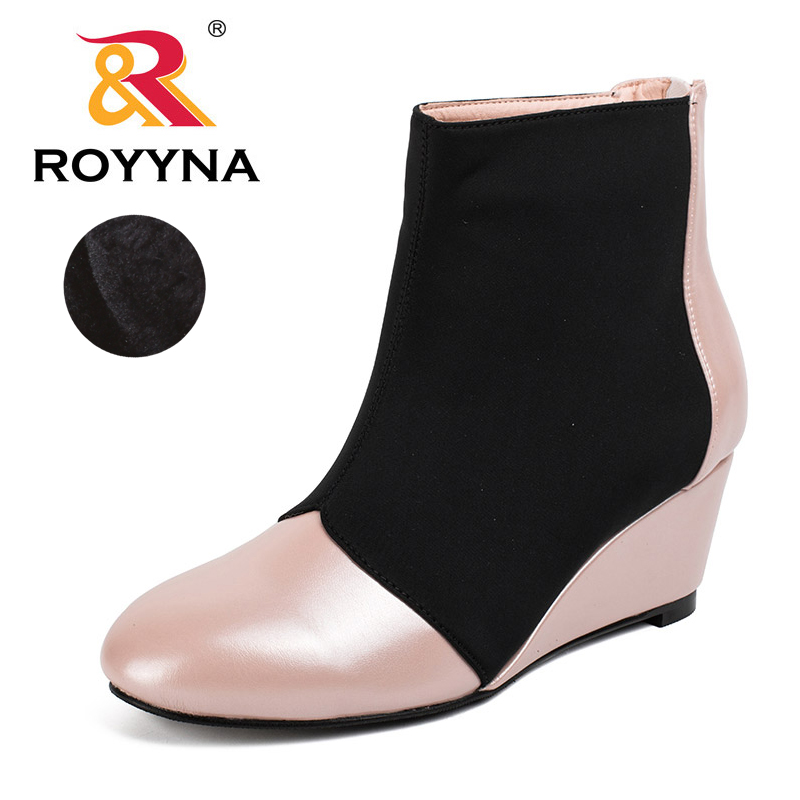 ROYYNA 2017 Popular Style Women Ankle Boots Fashion Designer Women Casual Shoes Round Toe Outdoor Female Shoes Free Shinpping