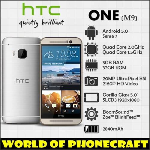 HTC EINS M9 Fabrik Entsperrt Qualcomm Octa Core 3 gb RAM 20MP Gorilla Glas 5