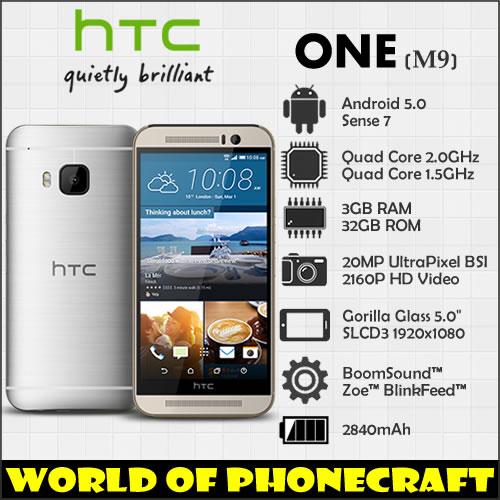 HTC one M9 Factory Unlocked Qualcomm Octa Core 3GB RAM 20MP Gorilla Glass 5 FHD 1920*1080 4G TDD FDD LTE NFC Android Smartphone