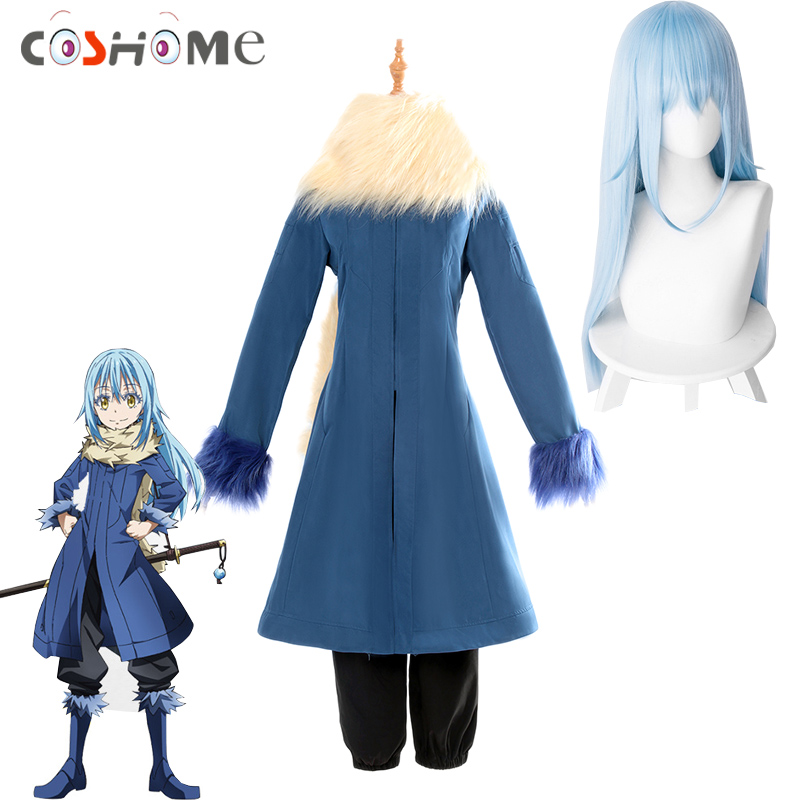 Anime Wig That Time I Got Reincarnated As A Slime Cosplay Wig Rimuru Tempest Wig Blue Hair Role Play Party Cosplay Props Costume Props Costumes & Accessories