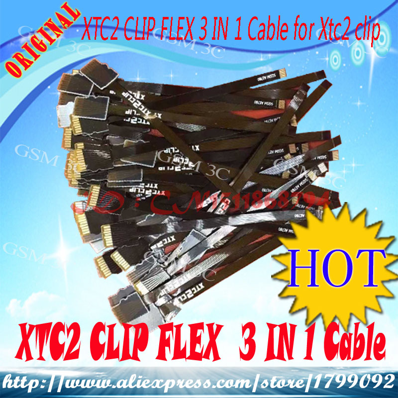 Free   Shipping  FLEX  3 IN 1 Cable For  XTC2 CLIP Box