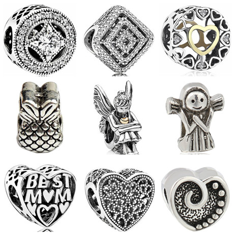 Punk Style Enamel Love Heart Umrella Santa House Monkey Flower Charm Beads Fit Pandora Bracelets For Women Diy Making Jewelry Jewelry & Accessories
