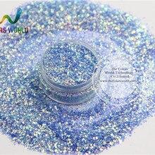 TCR337-H1 микс американская фантазия переливающийся синий цвет блестящая Пыль для дизайна ногтей или другого украшения своими руками