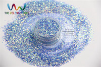 TCR337 H1 Mix Pearlescent Iridescent Shinning Blue Rainbow Colors Fine Glitter Dust For Nail Art Or
