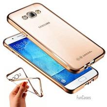 a5ae2607db5 Funda para Samsung Galaxy nota 3 4 5 A3 A5 a510 A7 J1 J3 J5 J7 2015 2016 C5  c7 S6 S7 borde moda de lujo plating Carcasas