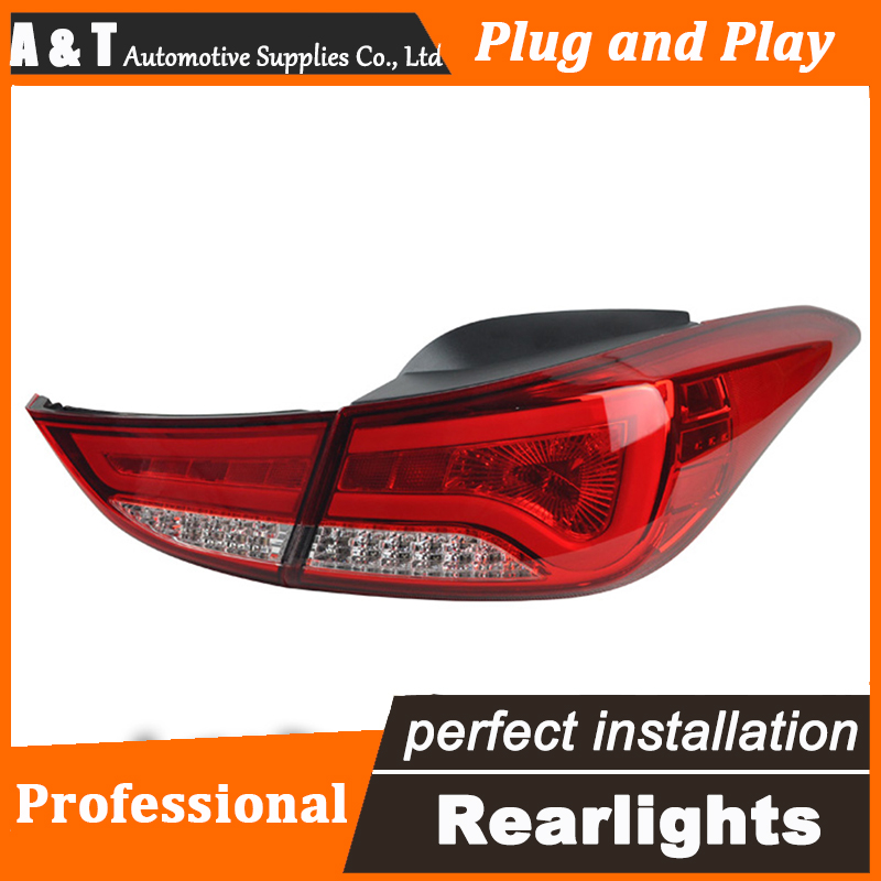 Car Styling LED Tail Lamp for Hyundai Elantra Taillights BMW Design Rear Light DRL+Turn Signal+Brake+Reverse auto Accessories le akd car styling tail lamp for mazda cx 5 tail lights cx5 led tail light led signal led drl stop rear lamp accessories