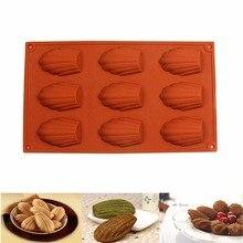 ANGRLY DIY в форме ракушки силиконовая форма для торта/силиконовая форма для шоколада/Мадлен/детская Рождественская силиконовая форма для выпечки макияж