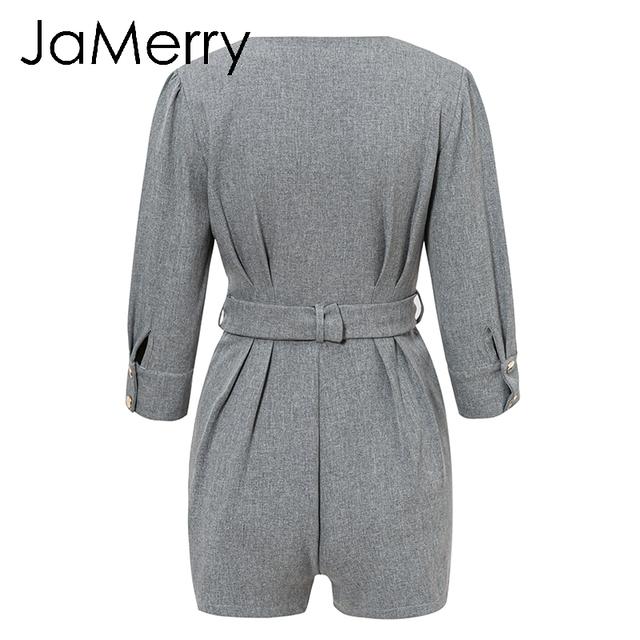 JaMerry Vintage buttons blazer female playsuit women