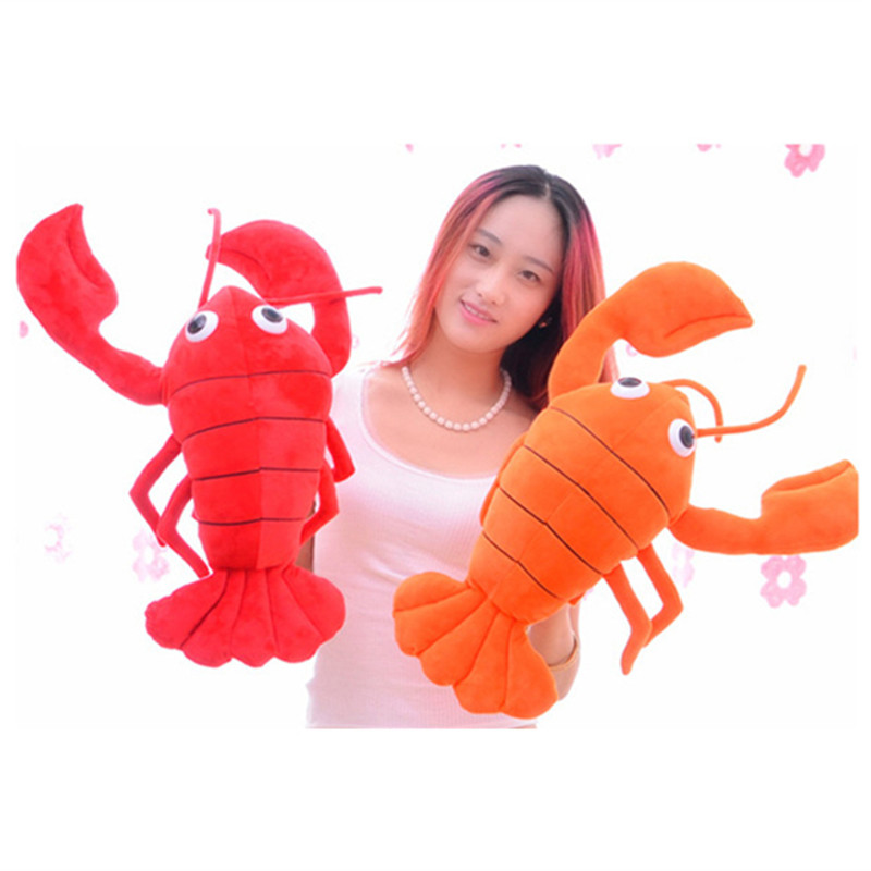 High Quality Big Lobster Plush Toys 65CM 3Colors Lobster Creative Soft Stuffed Doll Toy Pillow For Kids Birthday Christmas Gifts 5pcs lot pikachu plush toys 14cm pokemon go pikachu plush toy doll soft stuffed animals toys brinquedos gifts for kids children