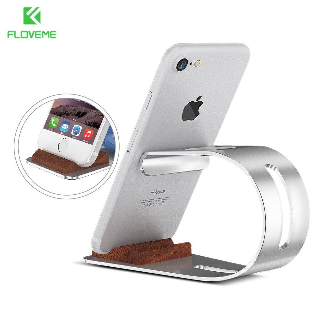Floveme подставка держатель телефона для Apple iPhone 7 6 S плюс 6 5S для iwatch Смарт-часы зарядки док-станции кронштейн Колыбели аксессуар
