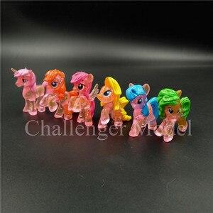 Image 3 - 6 Cái/bộ 3 5Cm Dễ Thương PVC Kỳ Lân Pony Công Chúa Nhân Vật Hành Động Đồ Chơi Búp Bê Trái Đất Ngựa Con Pegasus Alicorn Bát hình Búp Bê Cho Bé Gái