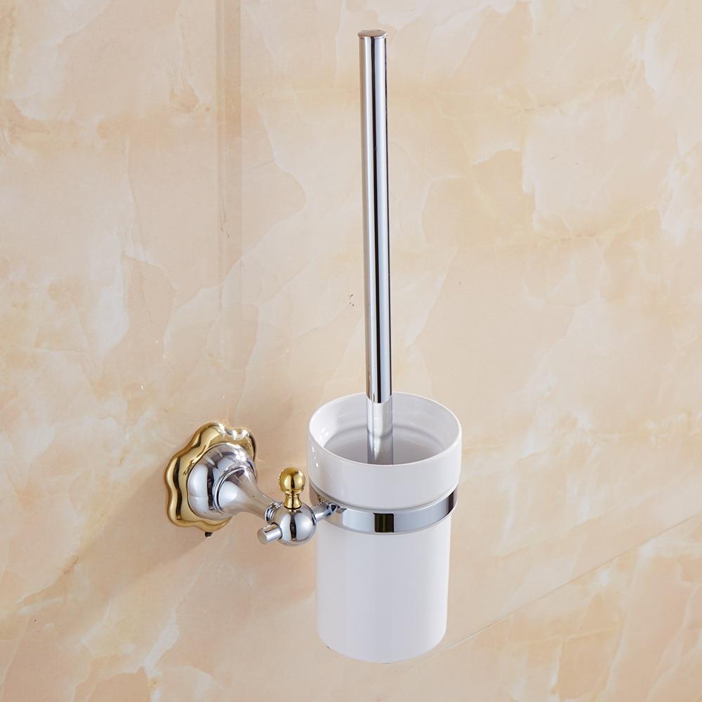 € 30.09 20% de réduction|Porte brosse de toilette moderne Design fleur  brosse de nettoyage des toilettes porte brosse de toilette en céramique  poli ...