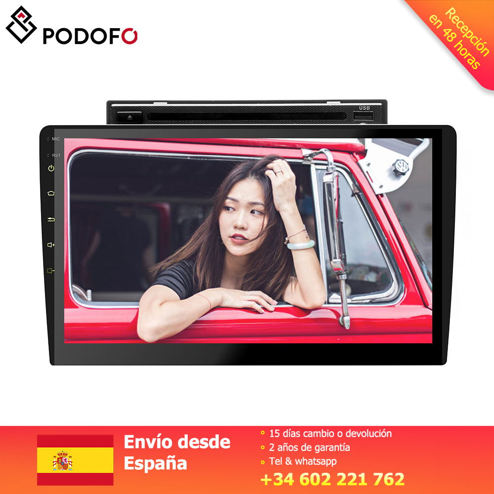 Podofo 2 din Car radio player Android 8.0 touch srceen 10.1'' DVD radio de coche TFT LCD DVD display Bluetooth GPS