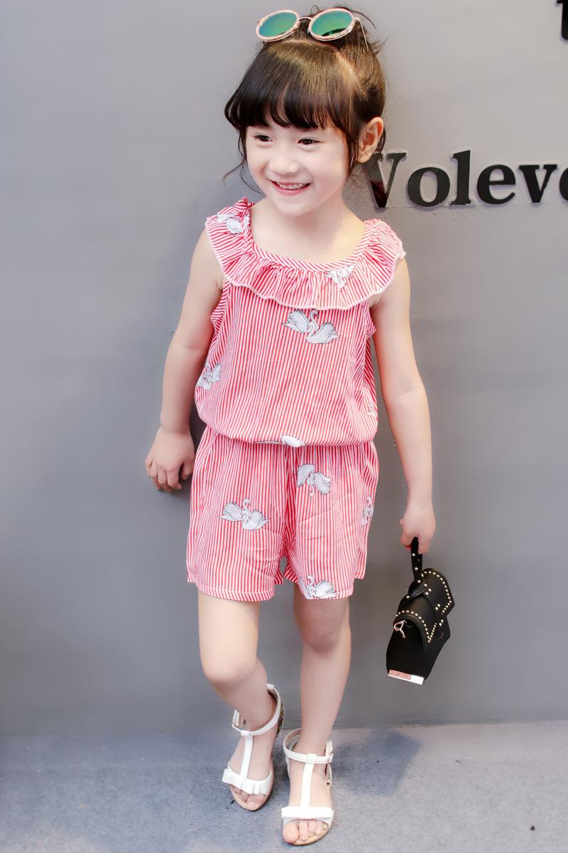 HTB1 Vm3gBmWBuNkSndVq6AsApXaF - (4 sets/lot) New 2018 Summer Girls' Clothing Sets Striped T-shirt & Shorts Baby Girl 2 PCs Set  8042615
