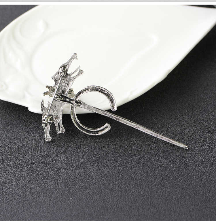 ... 2018 Game of Thrones Season 7 Daenerys Targaryen Dragon Brooches Silver  Metal Pins Brooch Gift Cosplay ... 2b8a62e08af5