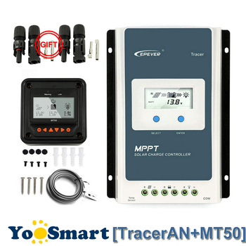 EPever TracerAN 10A 20A 30A MPPT Solar Charge Regulator 12V 24V LCD Controller 100V PV Negative Grounded With Remote Meter MT50