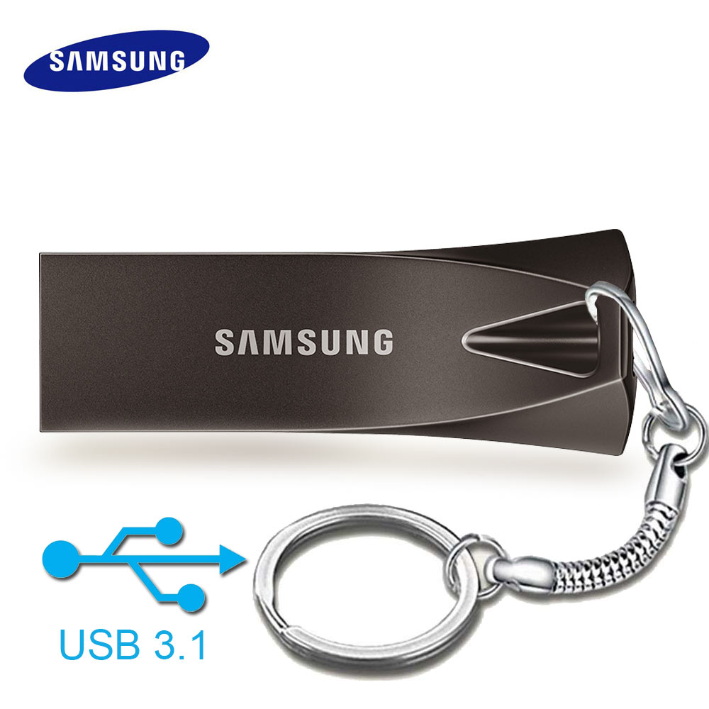 Original Samsung metal usb flash drive 3.0 cle usb stick 32gb 64gb 128gb pendrive plus usb3.1 high speed disk on key Pen Drive купить в Москве 2019