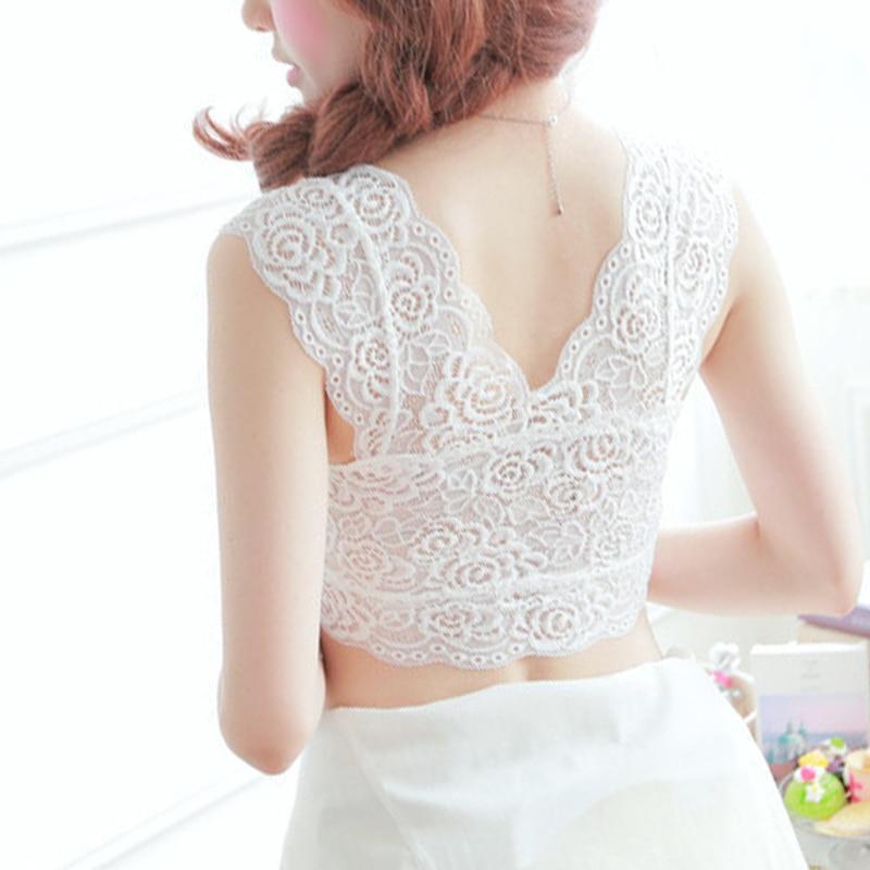 Fashion Sexy Trendy Women Charming Black White Bustier Cropped Blusas Vest Short Tops in Camisoles Tanks from Underwear Sleepwears