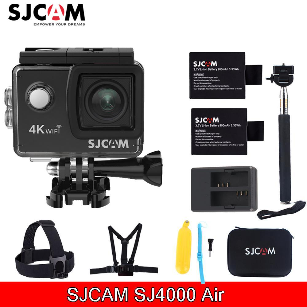 Sjcam Sj4000 Air 2.0'' Screen Wifi 4k 30 fps 16MP 30M Waterproof Sports Action Mini Camera With Various Accessories Choose