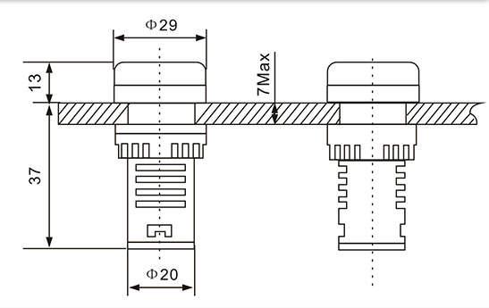 digital ac ammeter circuit diagram panel wiring software online shop 22mm led voltmeter ampermeter 60 500v 0 100a voltage current ampere