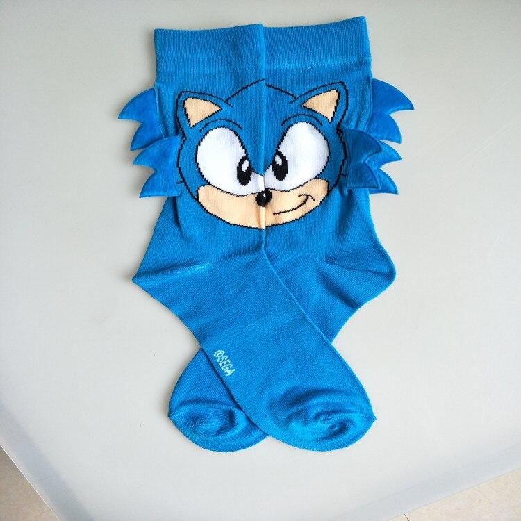 Личность Европа и США ручная сшивка рога мультфильм тон sonic малыш мужские носки без пятки модные носки