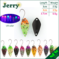 Jerry 2.5g 3.5g 5g small micro fishing spoons trout spoon lures fishing spinner bait two-side color