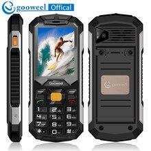 Gooweel GW2000 мобильный телефон длительным временем ожидания Dual SIM карты фонарик Мощность Bank fm-радио громкий Динамик bluetooth разблокирована сотовый телефон