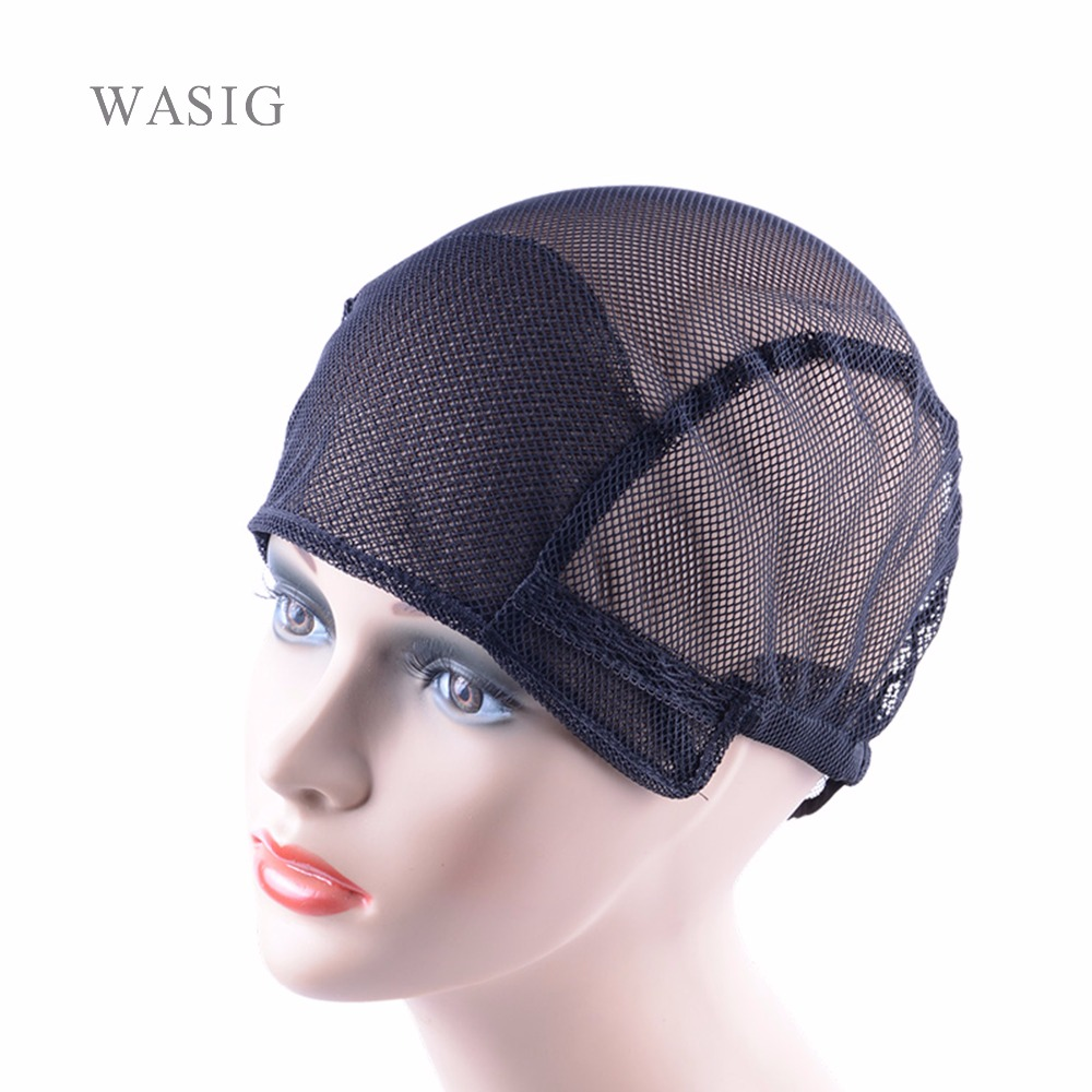 1Pc  Black  Wig Caps For Making Wigs Free Size Wig Net Cap Weaving Caps With Adjustable Straps On The Back Hair Nets