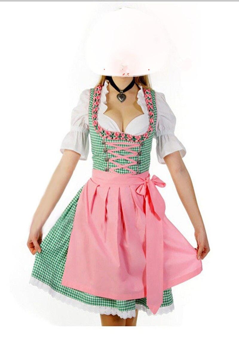 White apron ale - High Quality Oktoberfest Beer Festival October Dirndl Skirt Dress Apron Blouse Gown Halloween Copslay Costume