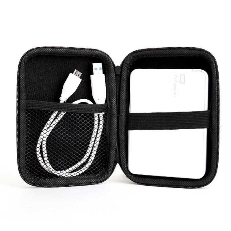"""أفضل سعر 2.5 """"الخارجية USB قرص صلب تحمل مصغرة كابل يو اس بي غطاء غلاف للهاتف سماعة حقيبة لأجهزة الكمبيوتر المحمول"""