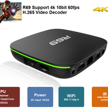 R69 Smart Android 7.1 TV Box 2GB 16GB Allwinner H3 Quad-Core