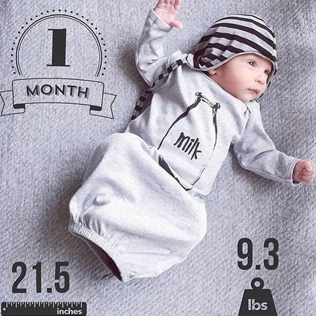 c6f5c6ebc Newborn Baby Boy Girls Long Sleeve Romper Bodysuit Sleeping Bag Pajama  Sleepsack Outfit Baby Cotton Overall