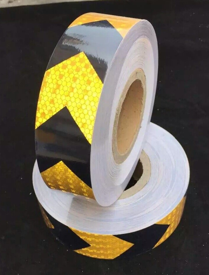 Intelligent Truck Road Traffic Construction Site Floor Wall Self-adhesive Pet Super Reflective Warning Safety Tape Reflective Material Back To Search Resultssecurity & Protection