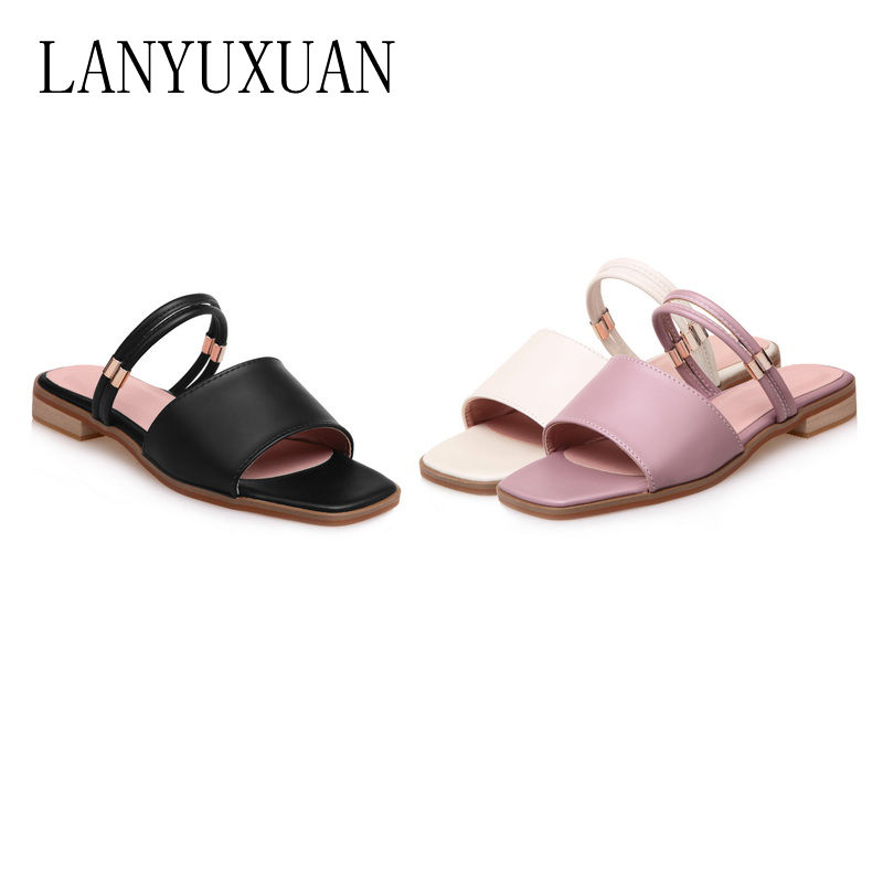LANYUXUAN 30-52 women summer beach flip flop zapatos mujer home sandals slippers zapatillaspantufa feminina shoes women 077-1 lanyuxuan 2017 new hot sale sandals