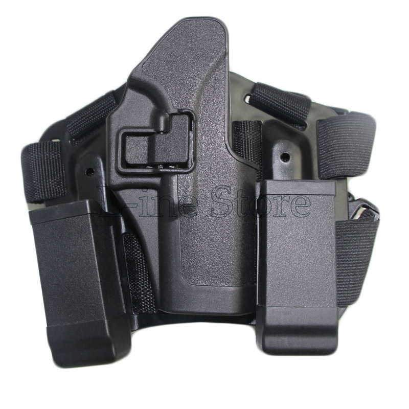 Tactical Hunting Thigh Gun Holster System For GL 17 19 22 23 31 32 Magazine Bag Holster Drop Leg Holster