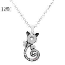 5PCS wholesale 12MM Ginger Snaps Pendant Necklaces with 45CM chain KS1248-S fit 12MM snaps jewelry Mother's Day Gifts недорого