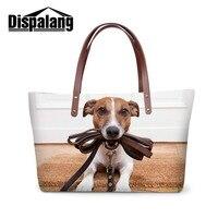 Dispalang Women Handbags Animal Dog Printing Totes Bag For Teenage Girls Ladies Stylish Handbag For Party Girls Lovely Beach Bag
