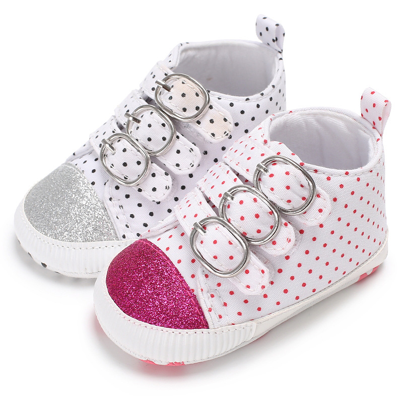 Baby Girls Soft Crib Sole Sneakers Toddler Newborn Kids Leisure Plimsolls Shoes