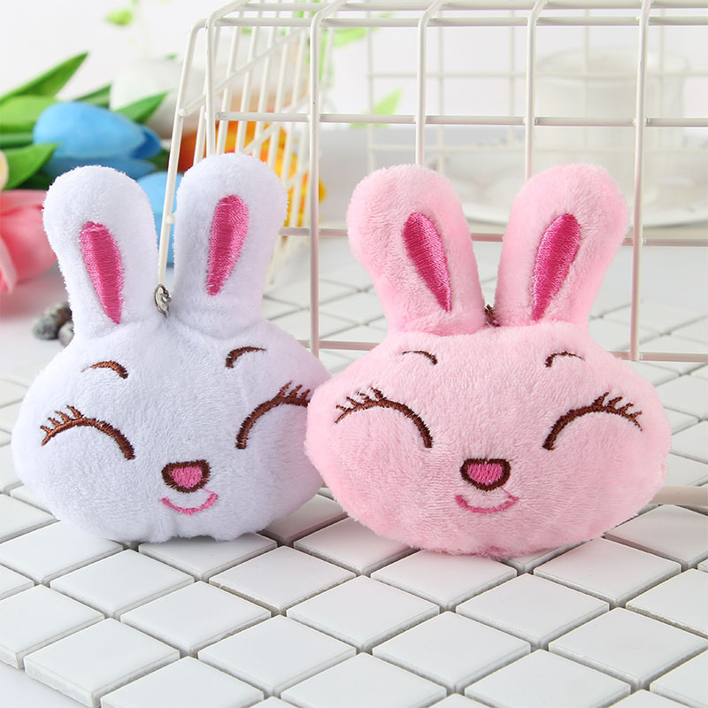 Hot Toys Porte Clef Key Ring Pendant Bag Accessary Car Ornament Mobile Rattles Mini Stuffed Rabbit Toy Decorative Wall Hanging