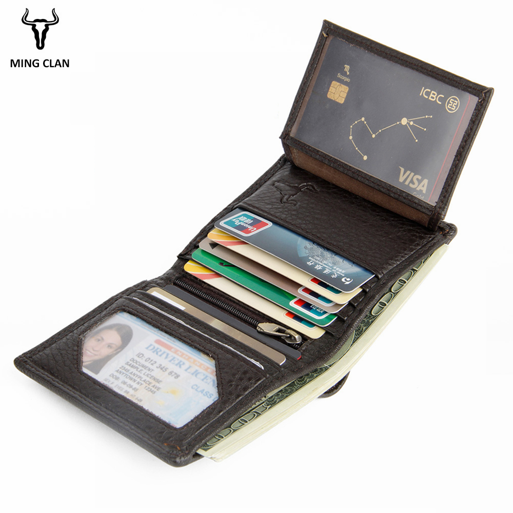 Rfid Wallet Short Men Wallets Genuine Leather Small Slim Male Purse Card Holder Wallet Fashion Zipper Pocket Coin Purse Bag new anime style spiderman men wallet pu leather card holder purse dollar price boys girls short wallets with zipper coin pocket