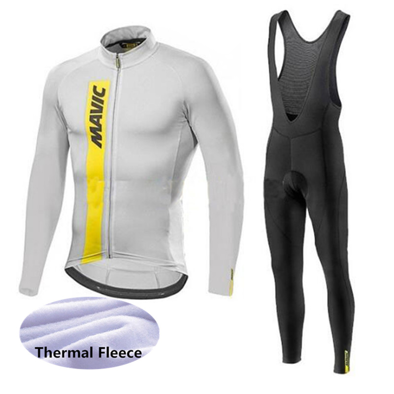 MAVIC Cycling Clothing Suit Winter Thermal Fleece Cycling Jersey Set Racing Maillot Rock Racing Bike Clothes Ropa Ciclismo G1001 fualrny 2018 winter fleeced thermal cycling clothing set racing bike sportswear maillot ropa ciclismo invierno bicycle jersey