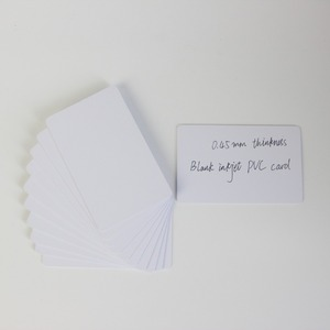 Image 1 - 100PCS 20mil 0.45mm thickness Blank Inkjet PVC ID Card  0.45mm Thickness Printable for Epson or Canon Inkjet Printer