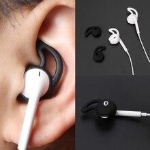 2 Pairs Eartip Silicone Tampa Do Caso para earpods Fones de ouvido fones de ouvido Fones De Ouvido iphone X 8 7 Plus 6 5 5S SE pontas Da Orelha Gancho
