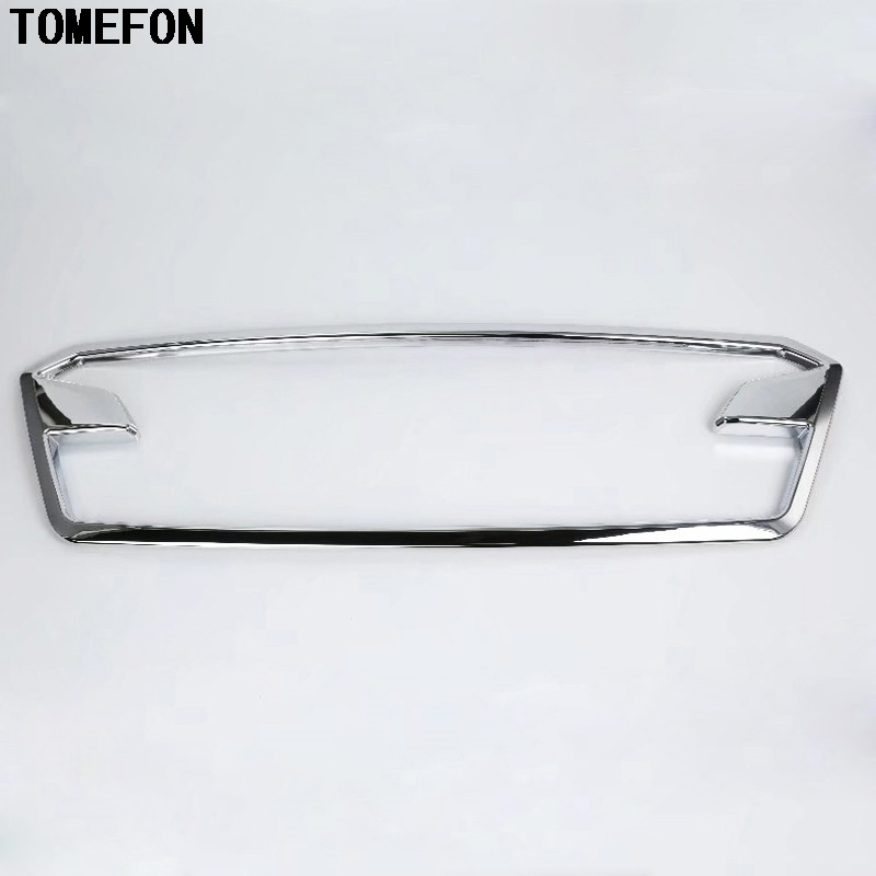 TOMEFON ABS Chrome Front Grill Gille Replacement Cover Sticker Center Car Exterior Styling For Subaru Crosstrek SUV 2017 2018