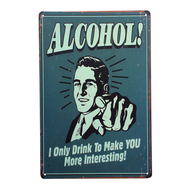 Alcohol Beer Retro Style Iron Sign Painting Decorative Signs Plaque Vintage  Metal Tin Sign Poster Office