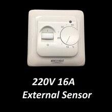 Механический Электрический Температура контроллер 220V 16A Напольное отопление-комнатный термостат